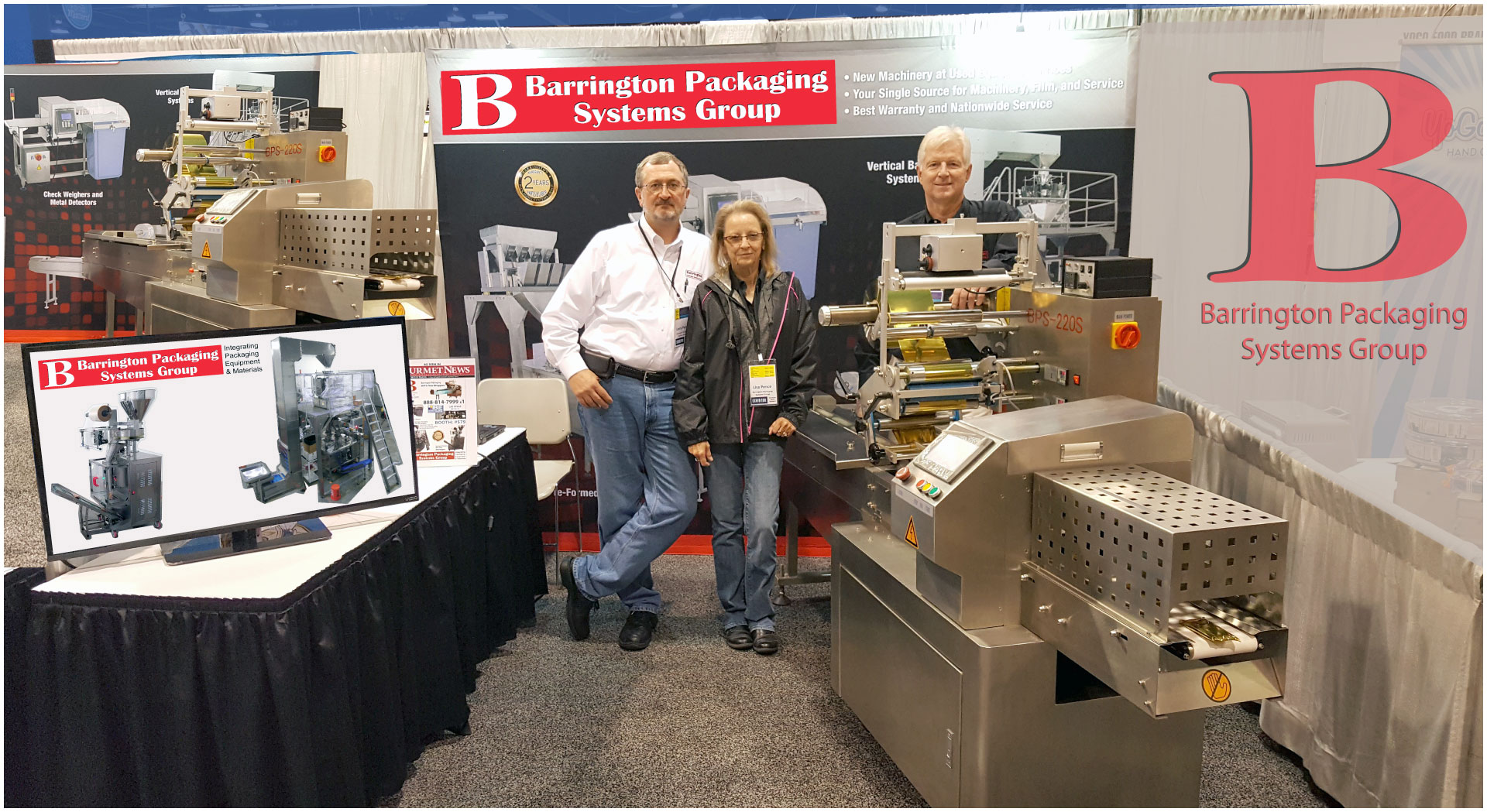 Barrington Packaging Systems Group Packaging Equipment Financing and Leasing Options 888-814-7999 Barrington Packaging offers affordable packaging equipment, high-quality packaging systems, new and used solutions for all of your packaging equipment needs